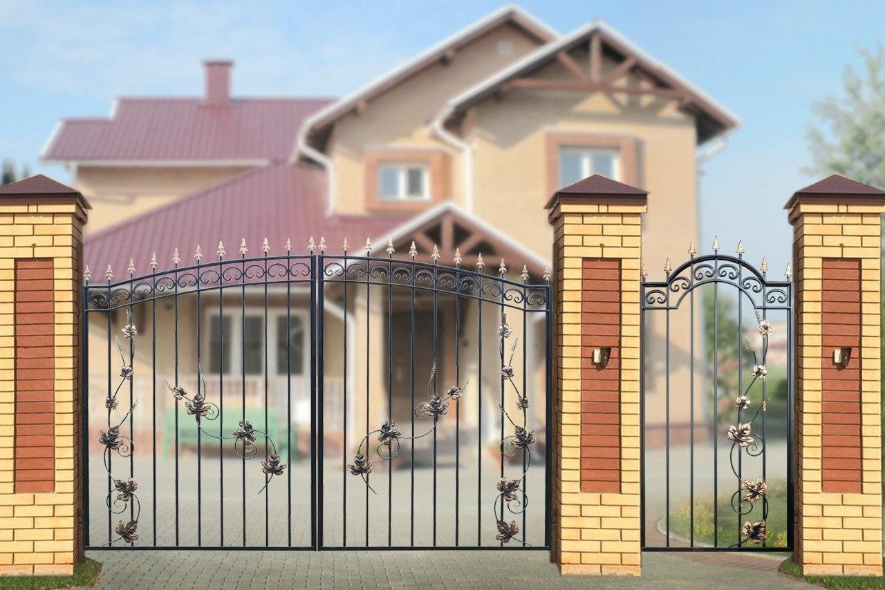 Ворота «Дачные» арочные Лоза