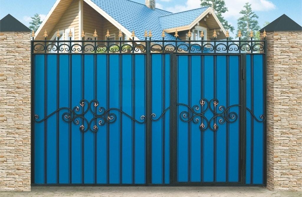 Ворота «МП» со встроенной калиткой