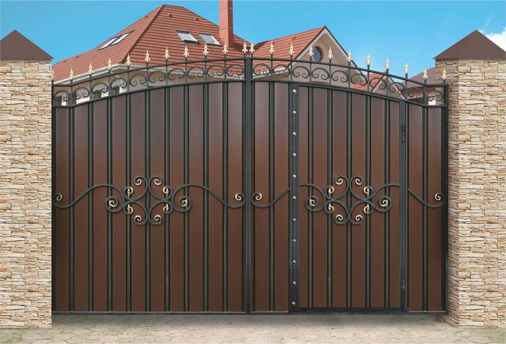 Ворота «МПА» со встроенной калиткой