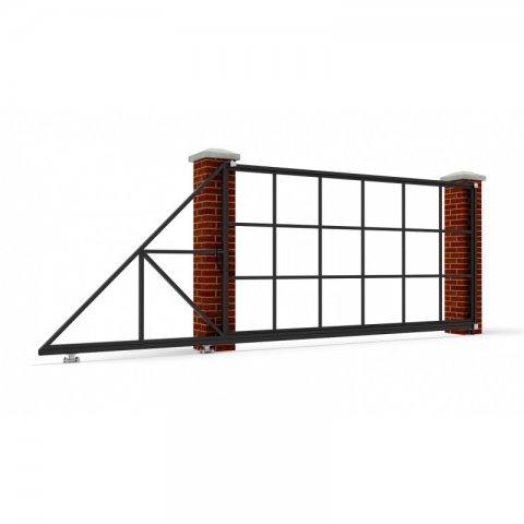 Откатные ворота металлические 5 х 2 м. «СТАНДАРТ»