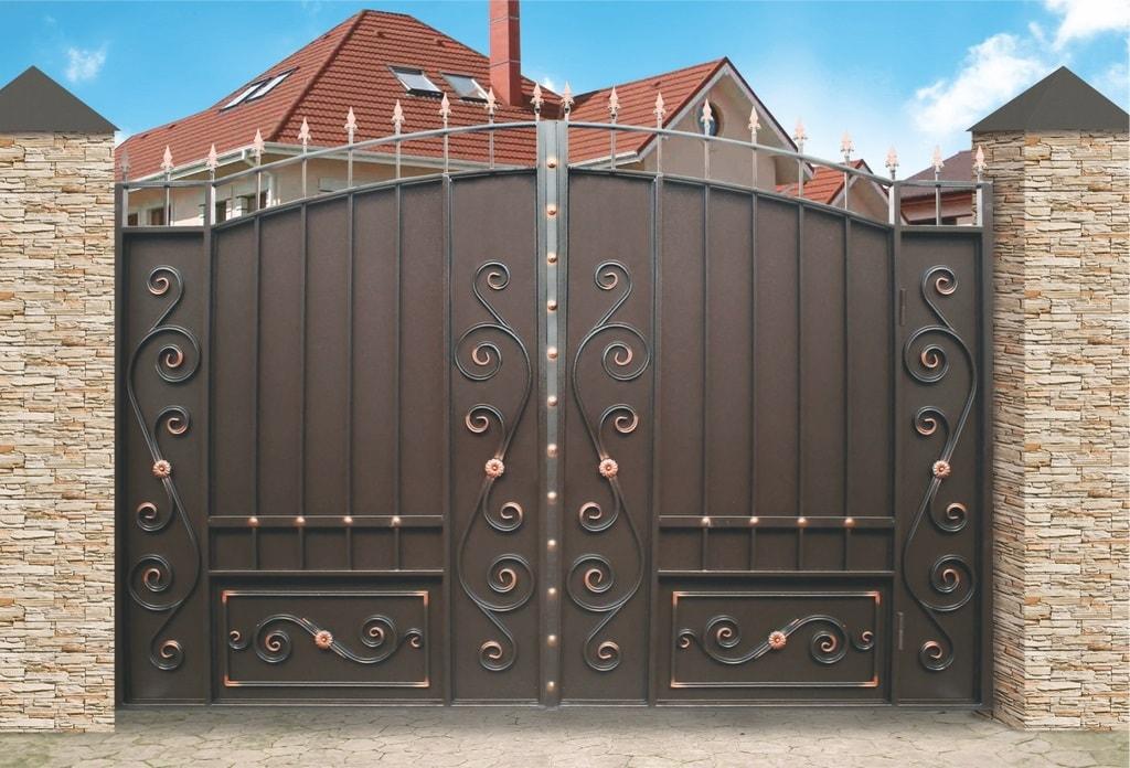 Ворота «Дворянские» со встроенной калиткой