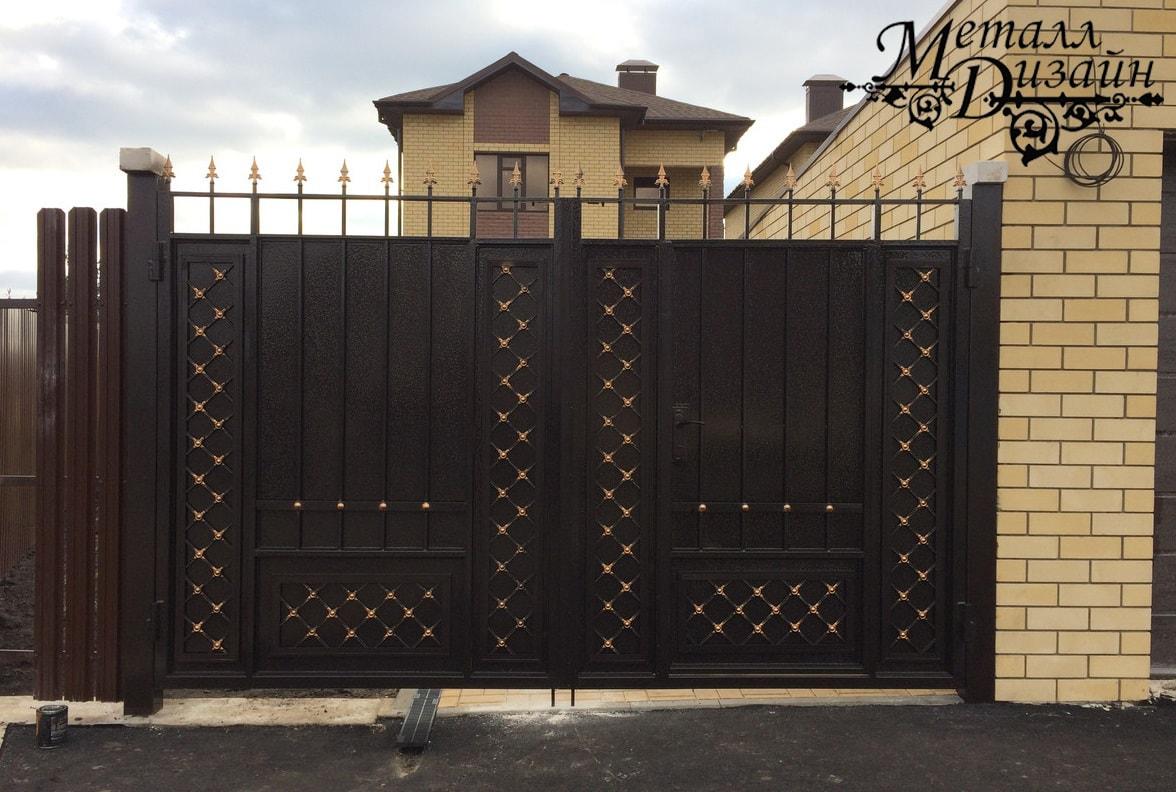 Ворота «Классика СК» со встроенной калиткой