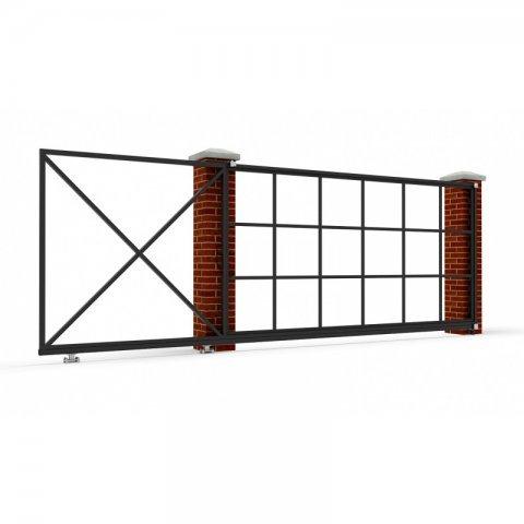Откатные ворота металлические 5 х 2 м. «ПРЕМИУМ»