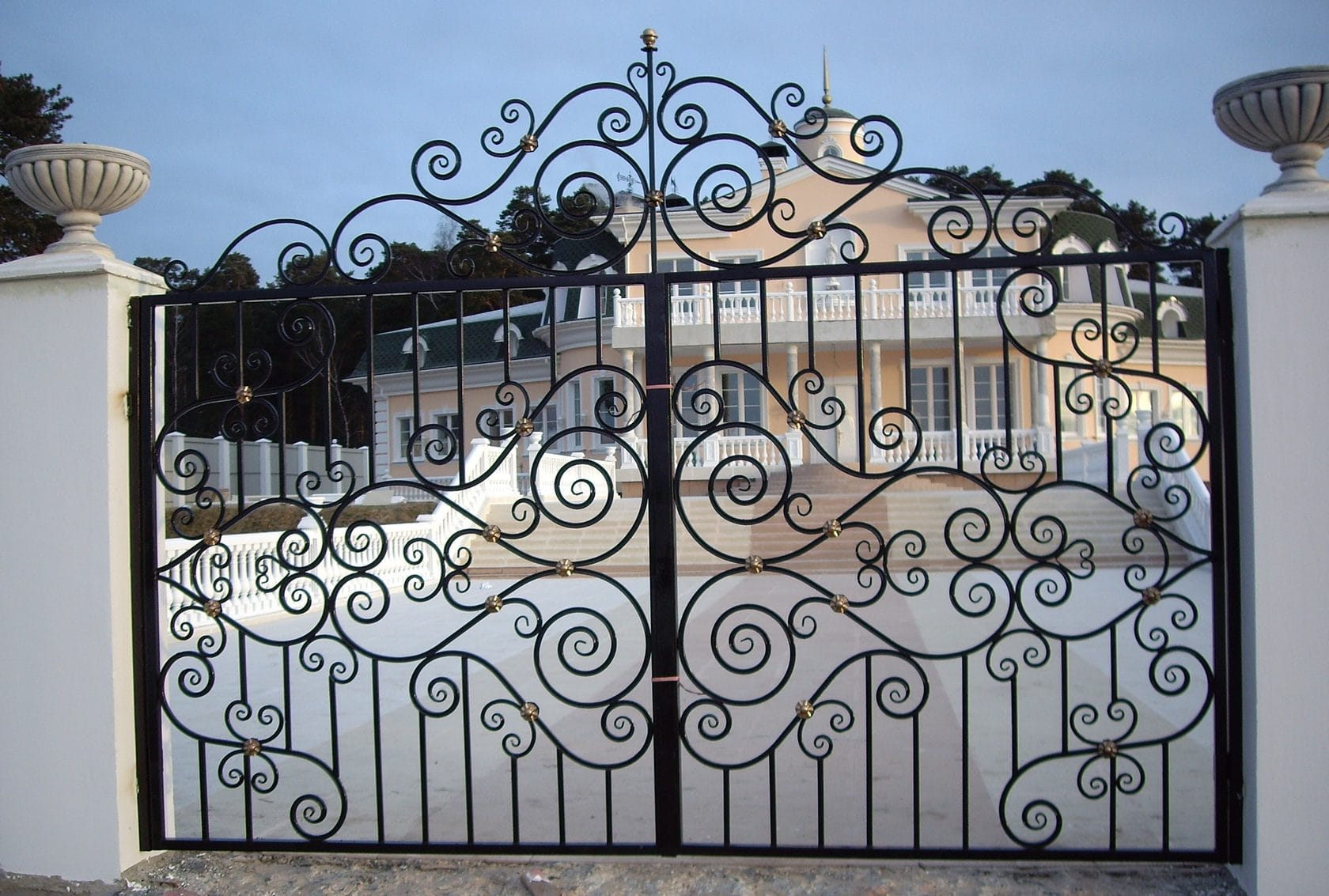 Ворота «Кованые Эвольвента»