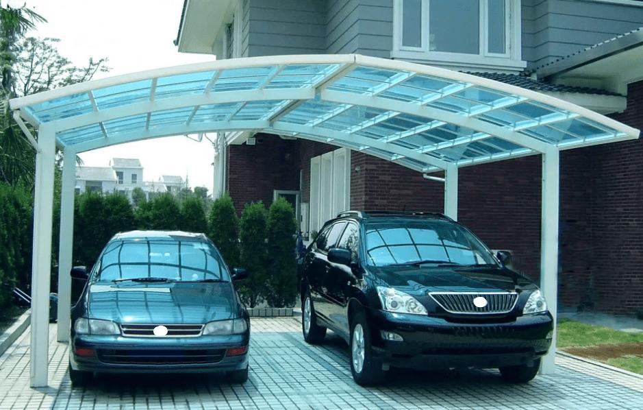 Навес для двух автомобилей ДН7000Б