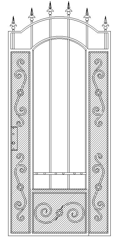 Калитка «Дворянская» Полупрозрачная